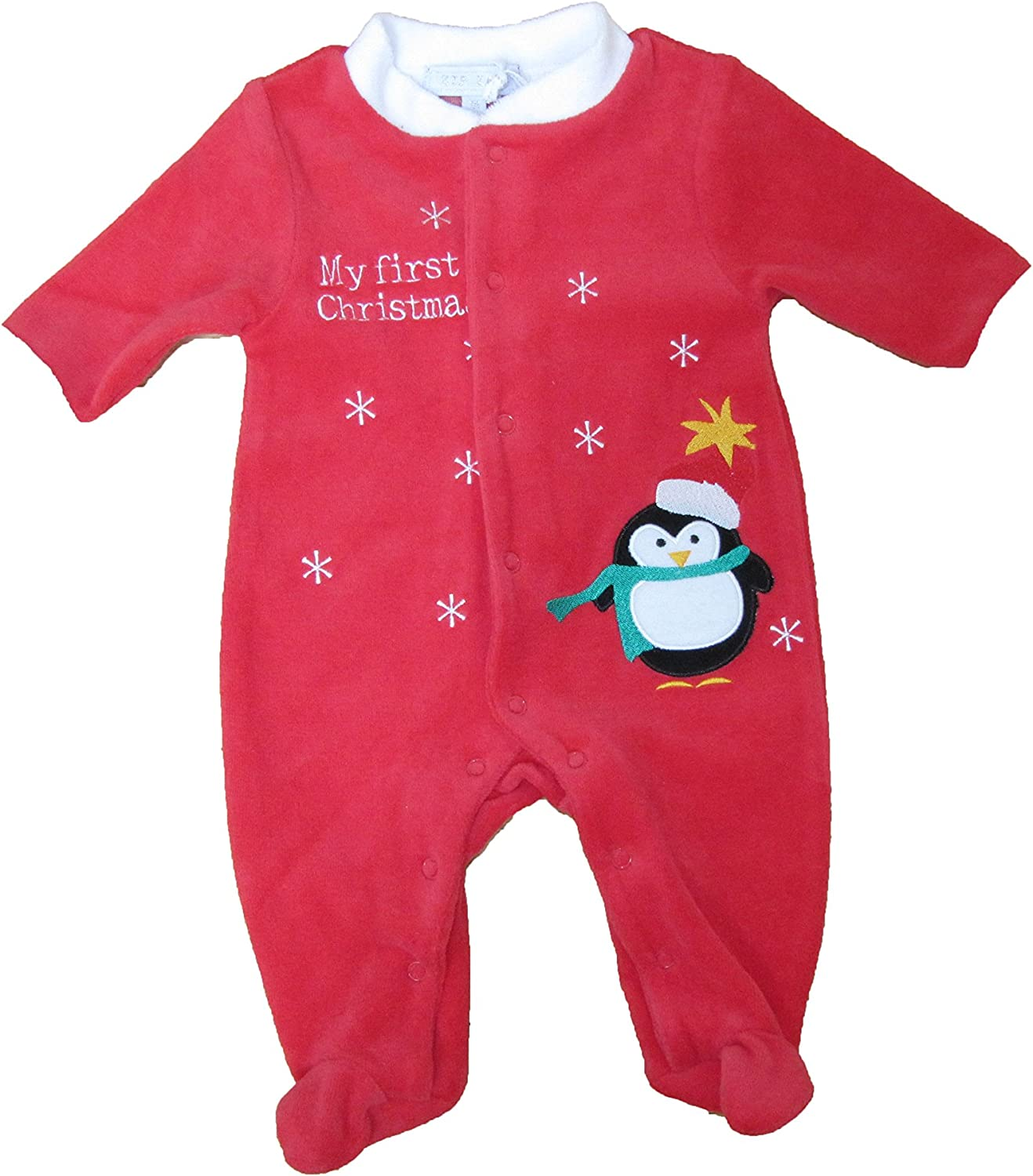 Zip Zap My First Christmas Penguin Size 1 Month Red