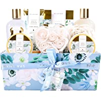 Bath and Body Gift Sets, Spa Luxetique Gift Baskets for Women, 12pc Relaxing Spa Gift Box with Shower Gel, Bath Salt…