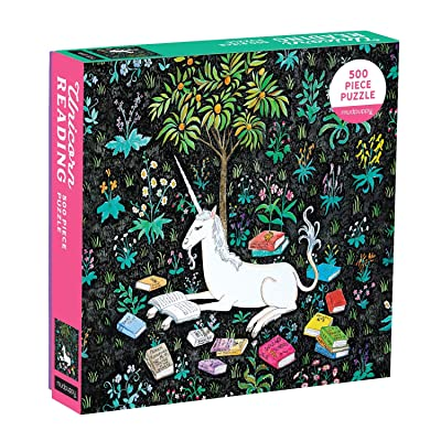 Mudpuppy 500 Piece Unicorn Jigsaw Puzzle for Families, Reading Unicorn Puzzle for Girls and Families with Fun Theme: Mudpuppy, Terao, Steph: Toys & Games