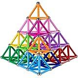 Veatree 178 Pcs Lengthen Magnetic Building Sticks Blocks Toys, Magnet Educational Toys Magnetic Blocks Sticks Stacking Toys S