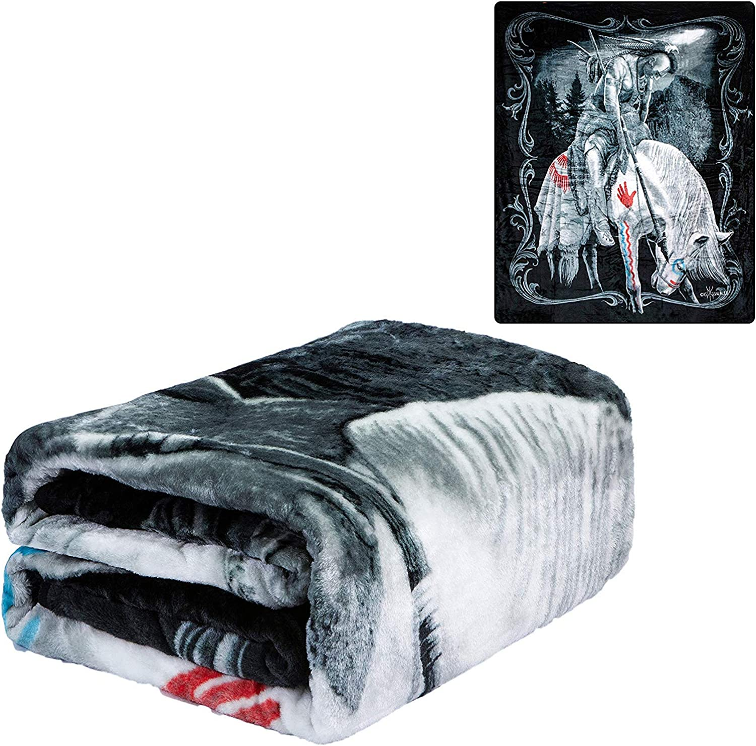 DGA End of Trails Signature Collection Queen Soft Plush Blanket, 79x95 inches