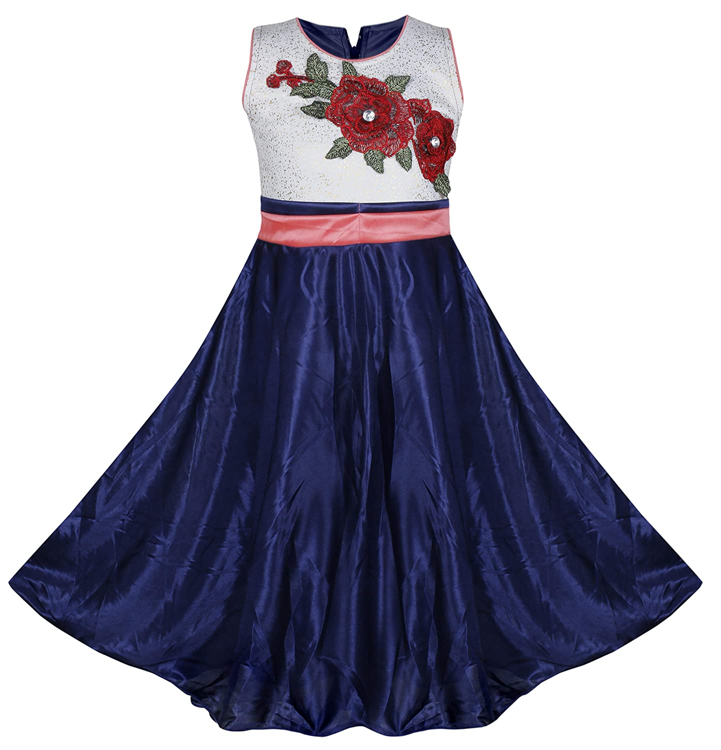 0b5942f2f13b BENKILS Cute Fashion Baby Girl s Skuba Lycra Party Wear Frock Dress ...