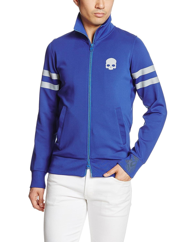 (ハイドロゲン) HYDROGEN(ハイドロゲン) スカル フルジップ スウェットシャツ【並行輸入品】 B01MU4A83S EU M-(日本サイズL相当)|ブルー ブルー EU M-(日本サイズL相当)