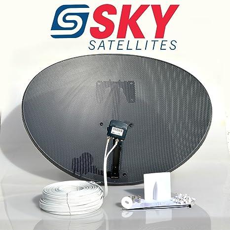 sky satellites 80cm zone 2 freesat hdr satellite dish diy self installation  kit,latest dish