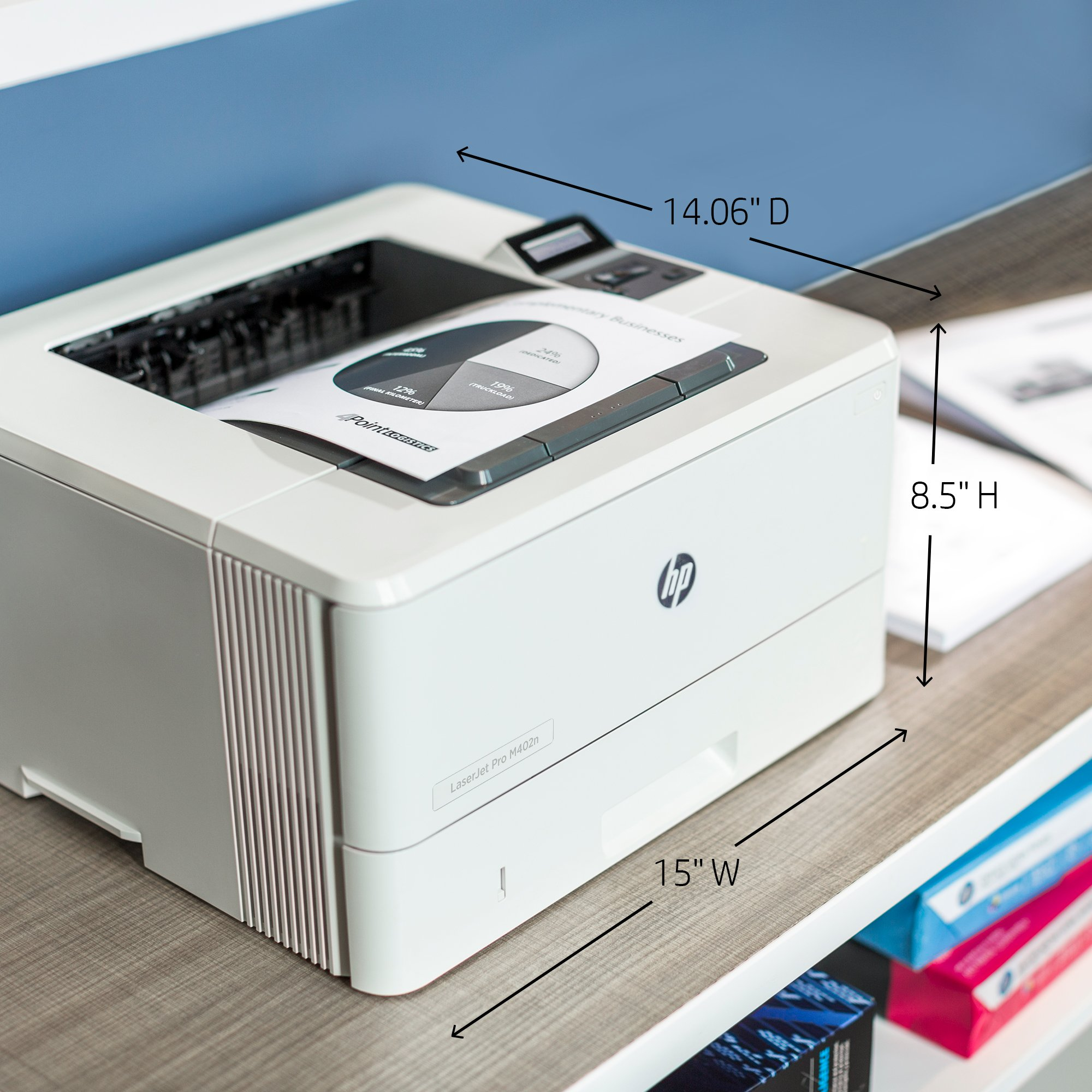 HP LaserJet Pro M402n Laser Printer with Built-in Ethernet, Amazon Dash Replenishment ready (C5F93A) by HP (Image #3)