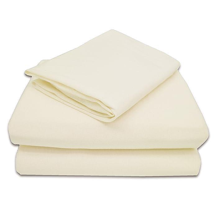 American Baby Company 100% Cotton Jersey Knit Toddler Sheet Set, Ecru