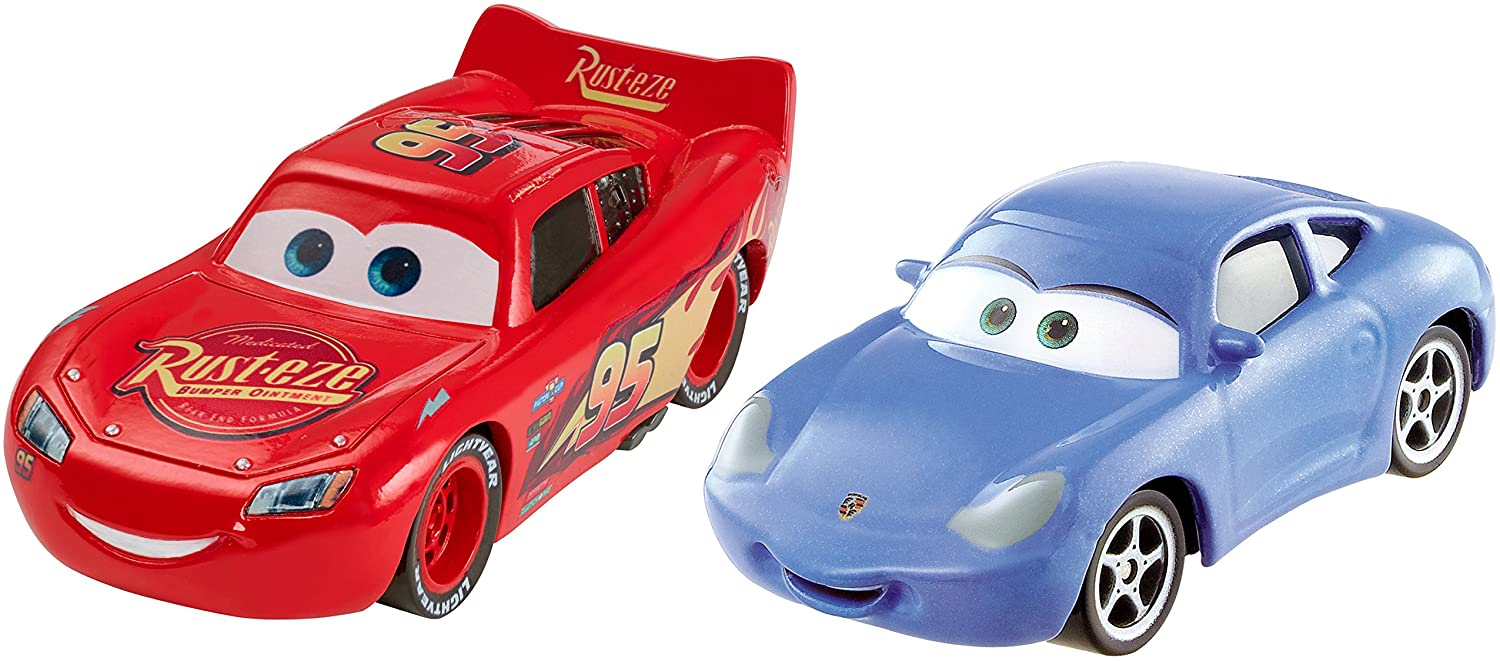 Disney Pixar Cars 3 Lightning McQueen and Sally 2-pack vehicle: Amazon.es: Juguetes y juegos