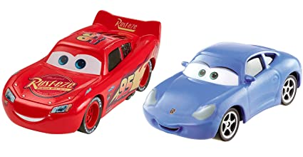 Amazon Com Mattel Cars 3 Lightning Mcqueen And Sally Die Cast
