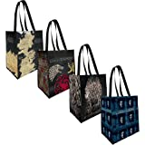 The Coop Game of Thrones 4 Pack Reusable Grocery Tote Bags - Not Machine Specific;
