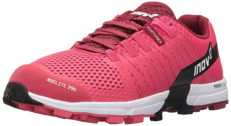 Inov-8 Women's Roclite 290 Trail Runner, Pink/Black/White, 10.5 D US
