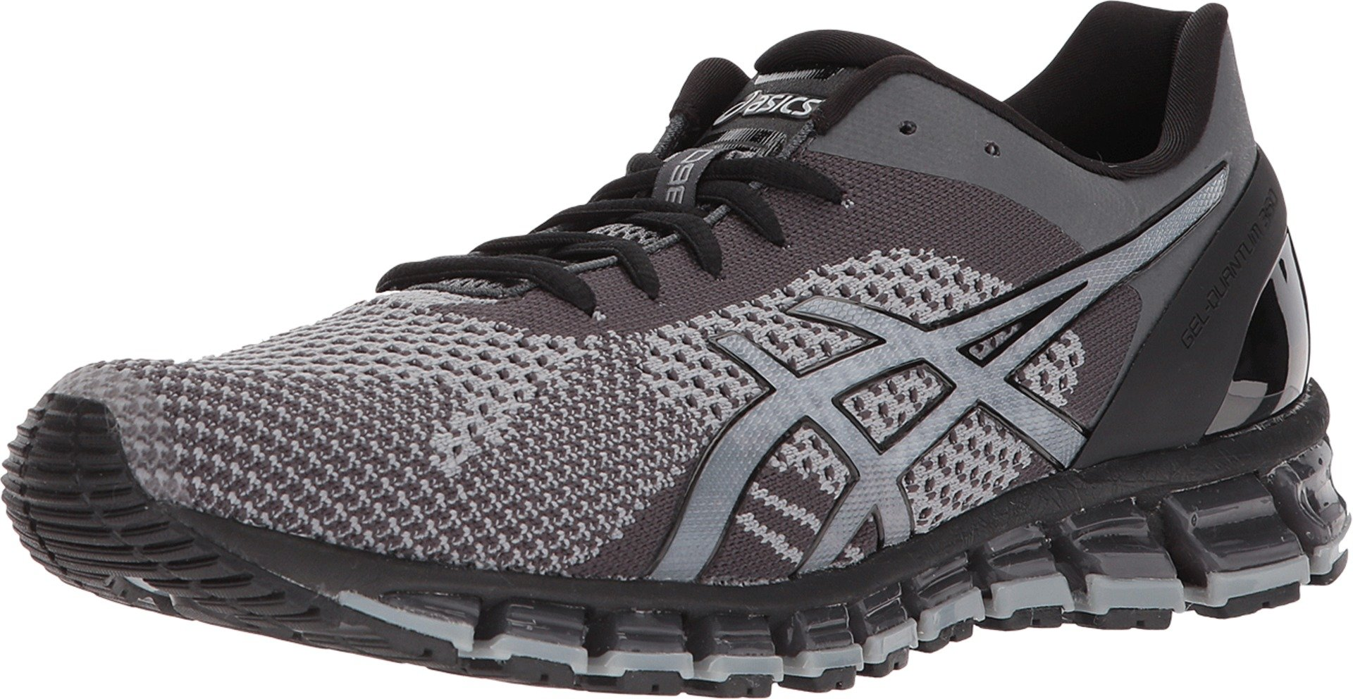 newest 8a510 122ff ASICS Men's Gel-Quantum 360 Knit Running Shoes, Mid Grey/Carbon/Black, 11.5  M US