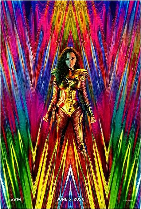Wonder Woman 1984 Poster Chris Pine Movie DC Comics Silk Canvas Print 24x36/'/'
