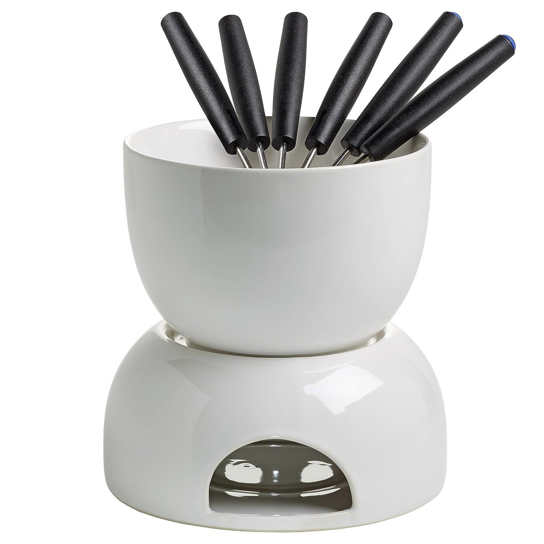 wei/ß Keramik 14 x 14 x 14 cm Maxwell /& Williams InfusionsT Schokoladenfondue