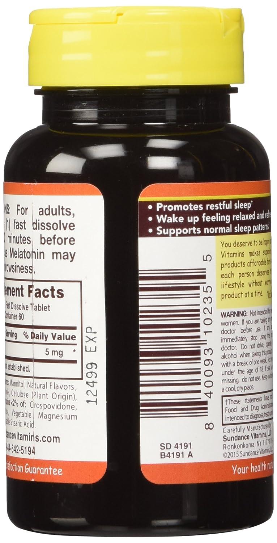 Amazon.com: Sundance 5 Mg Melatonin Tablets, 60 Count: Health & Personal Care