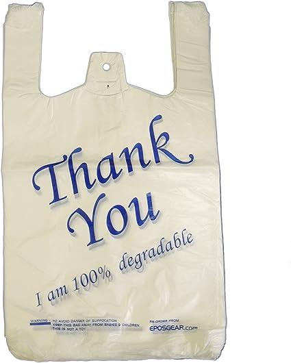 EPOSGEAR® - Bolsas ecológicas grandes de color blanco y azul con ...