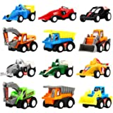 Pull Back Vehicles, 12 Pack Mini Assorted Construction Vehicles & Race Car Toy, Yeonha Toys Vehicles Truck Mini Car Toy…