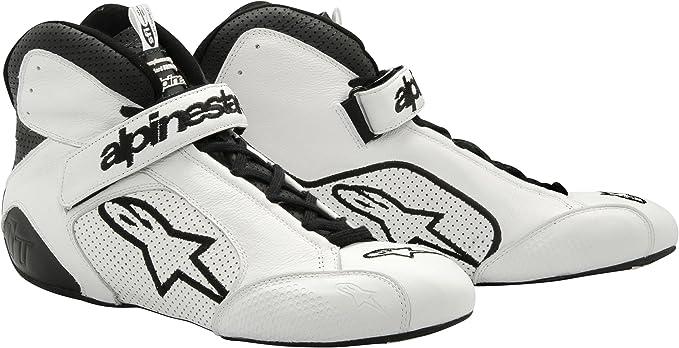 Alpinestars 2710112-21-6 White//Black Size-6 Tech 1-T Shoes