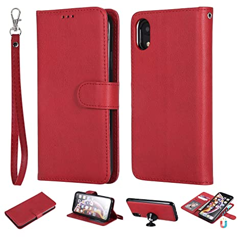 coque portefeuille iphone xr rouge