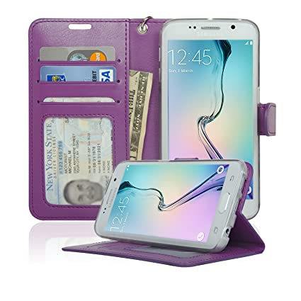 Amazon.com: Funda tipo cartera para Samsung Galaxy S6 Edge ...