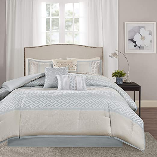 King Delta Taupe Luxury Home 7-Piece Delta Taupe Comforter Set