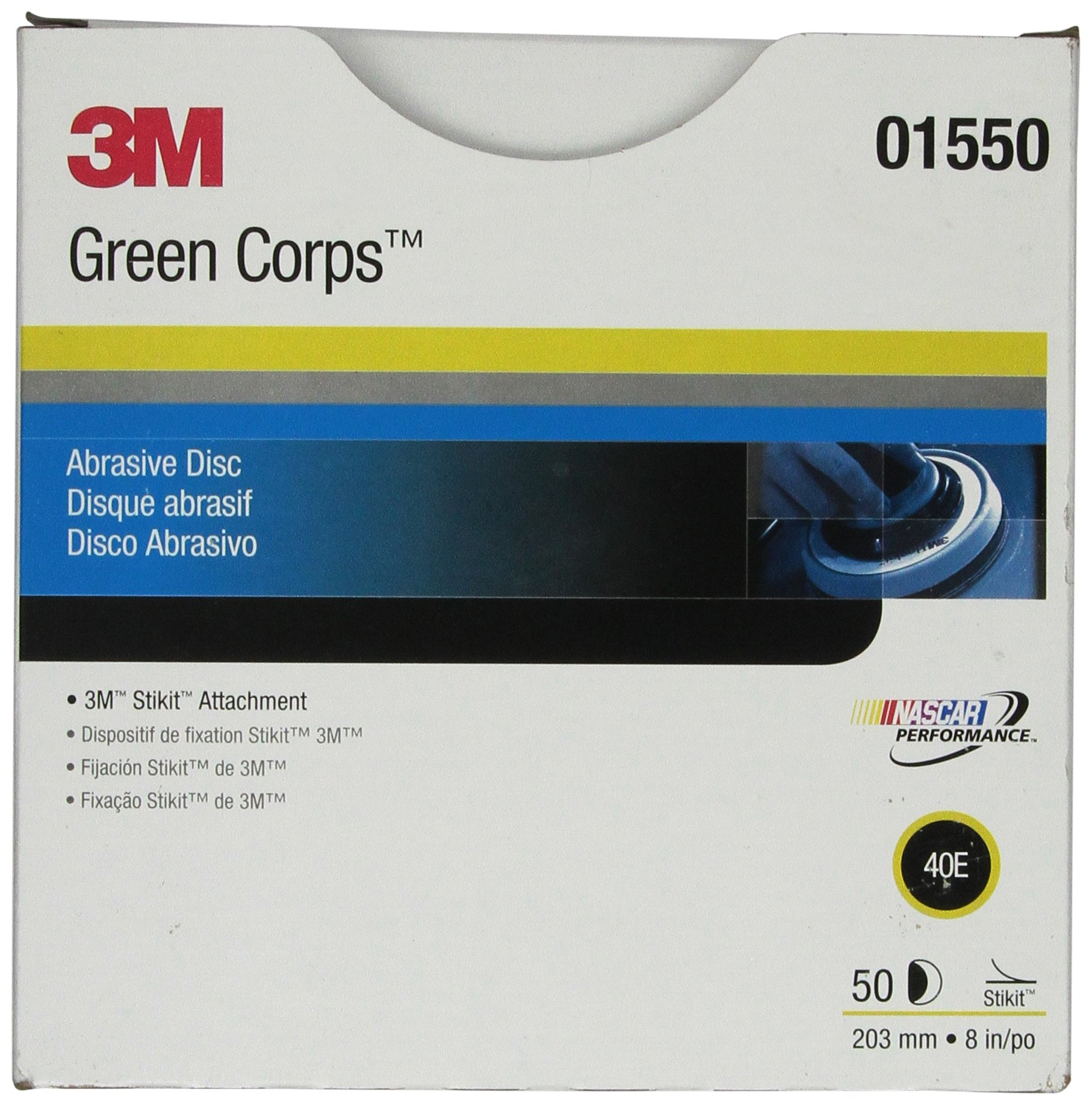 3M 01550 Green Corps Stikit 8'' 40E Grit Production Disc