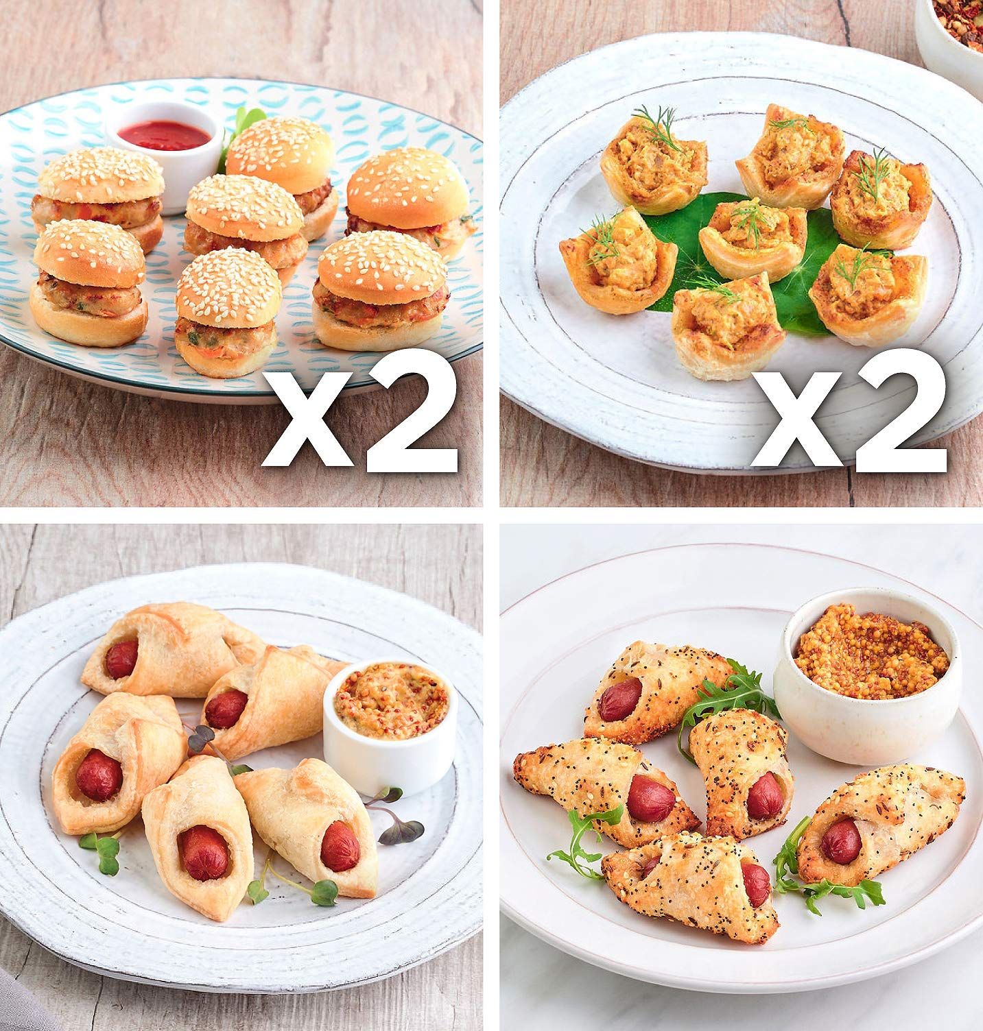 Babeth's Feast Hearty Appetizers Sampler - 6 pack of 4 Different Hearty Appetizers/Heat and Serve/No Preservatives