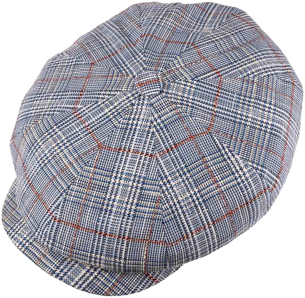 1940s Mens Hats | Fedora, Homburg, Pork Pie Hats Stetson Hatteras Classic Check Flat Cap Men - Made in The EU $92.37 AT vintagedancer.com