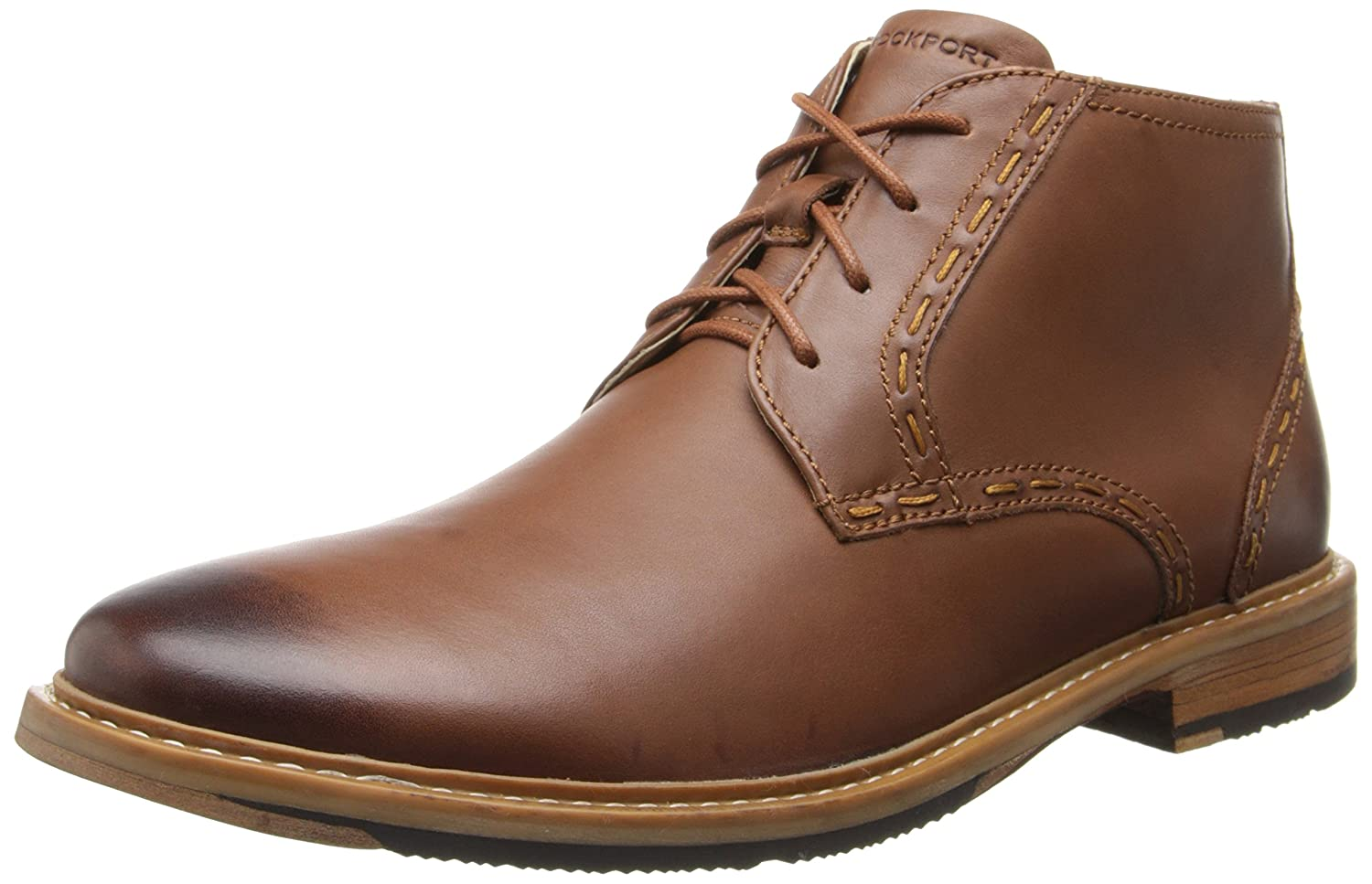 d359a9b54ea Rockport Ph Desert Boot Mens Tan Leather Fashion Ankle Boots Size UK ...