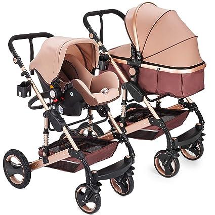 Amazon.com: Happybuy - Cochecito de bebé plegable de lujo ...