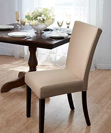 Madison Home Subway Tile Dining Chair Cover Beige