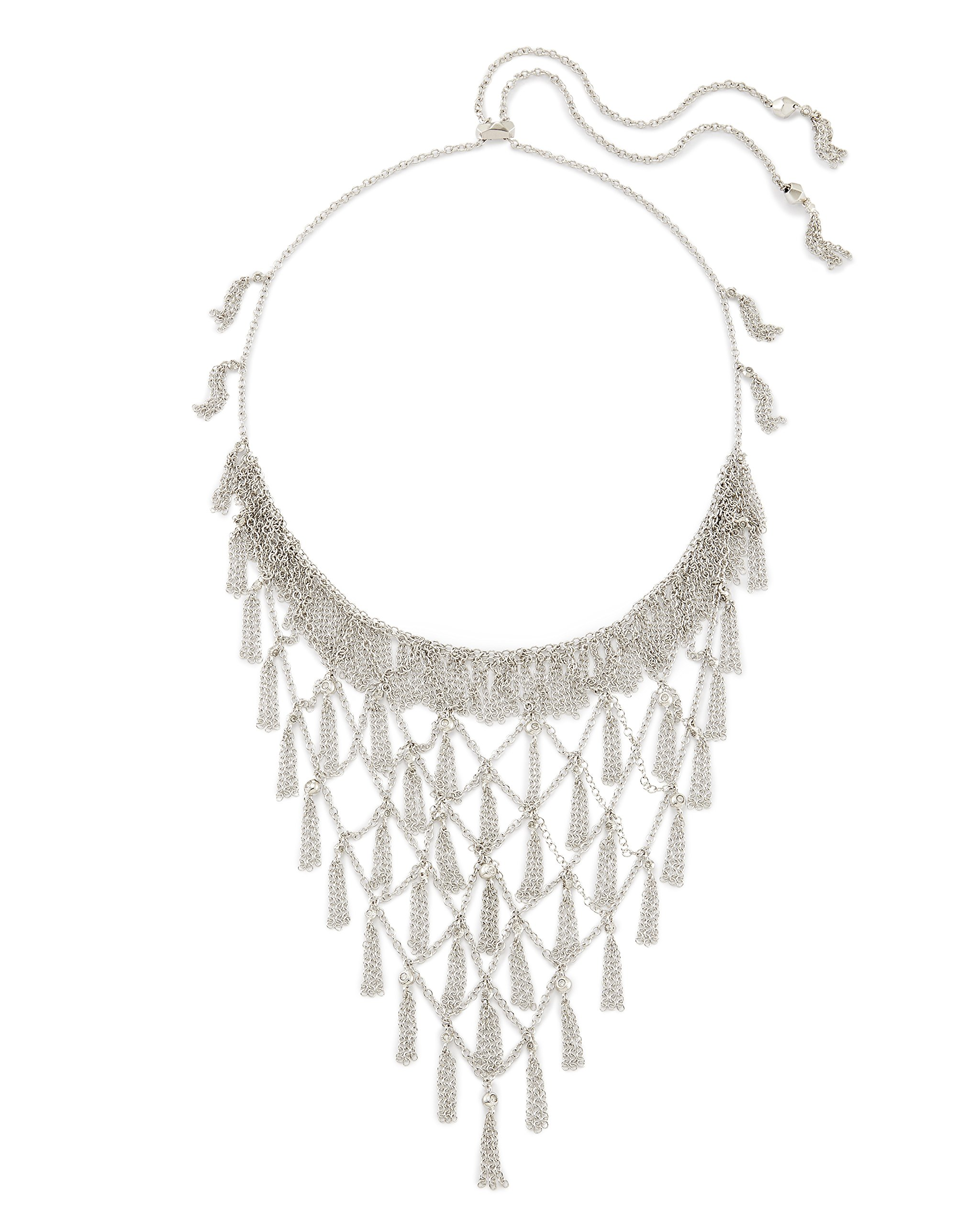 Kendra Scott Georgina Necklace in Rhodium Plated and Cubic Zirconia by Kendra Scott