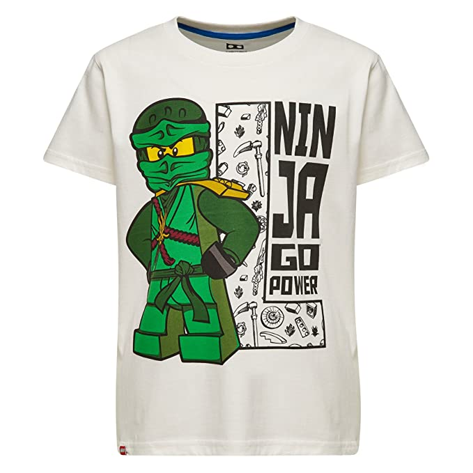 LEGO M-71168, Camiseta para Niños, Blanco (Off White), 4