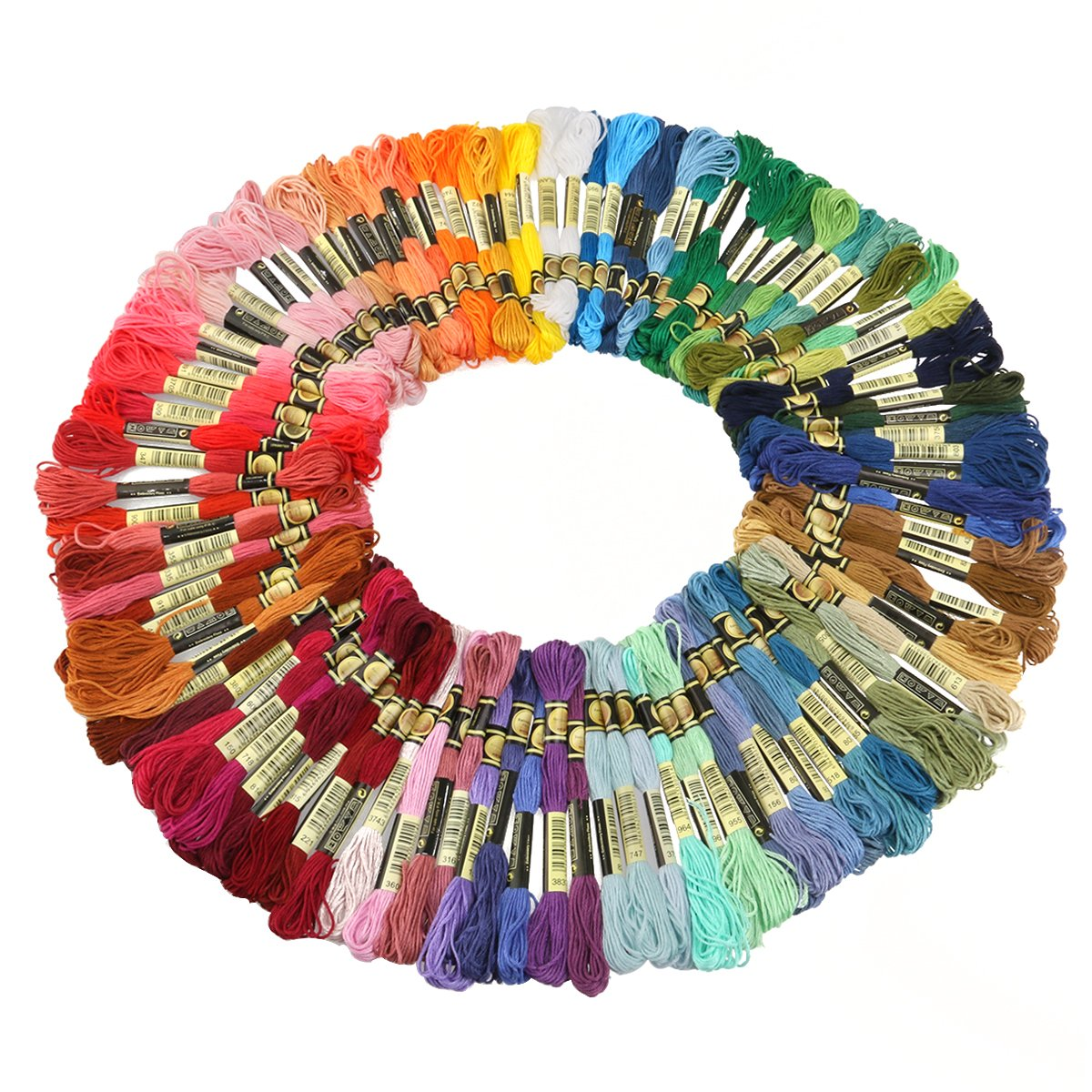 100pcs Embroidery Thread Rainbow Color Beginner high-Mass Soft Sewing Thread Cross-Stitch Embroidery Set Embroidery Floss