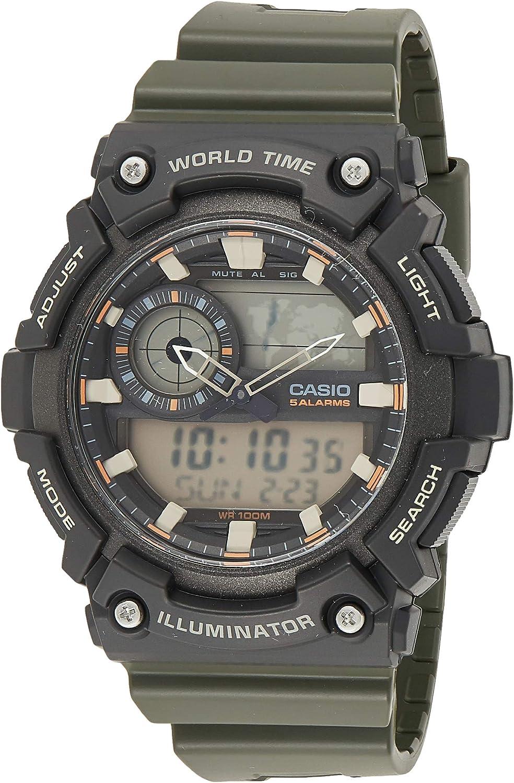 Casio Aeq-200w-3avdf Reloj Analógico/Digital para Hombre Colección Collection Caja De Resina Esfera Color Gris