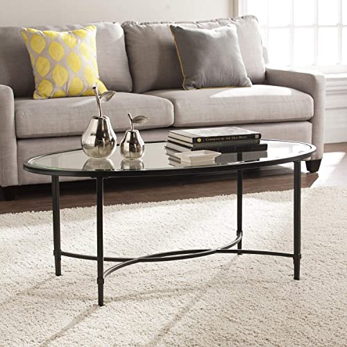 Southern Enterprises Quinton Oval Cocktail Coffee Table