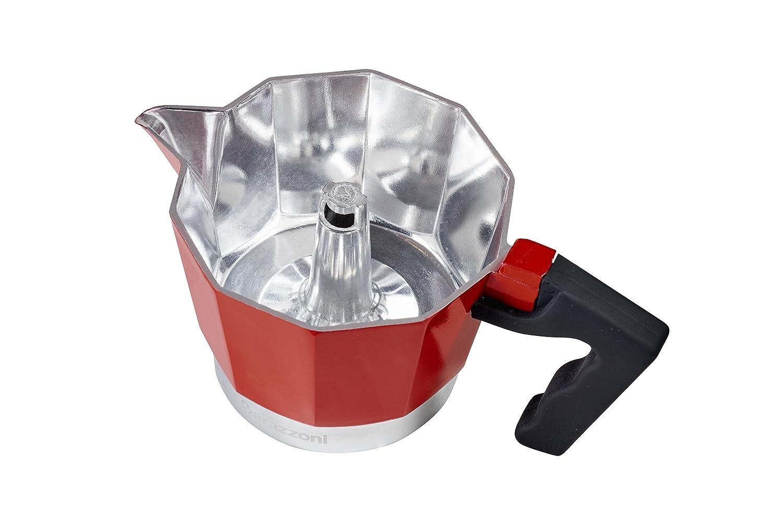 Barazzoni la cafetera colorata 1/Taza Aluminio 6.6/x 12.4/x 13.1/cm Rojo