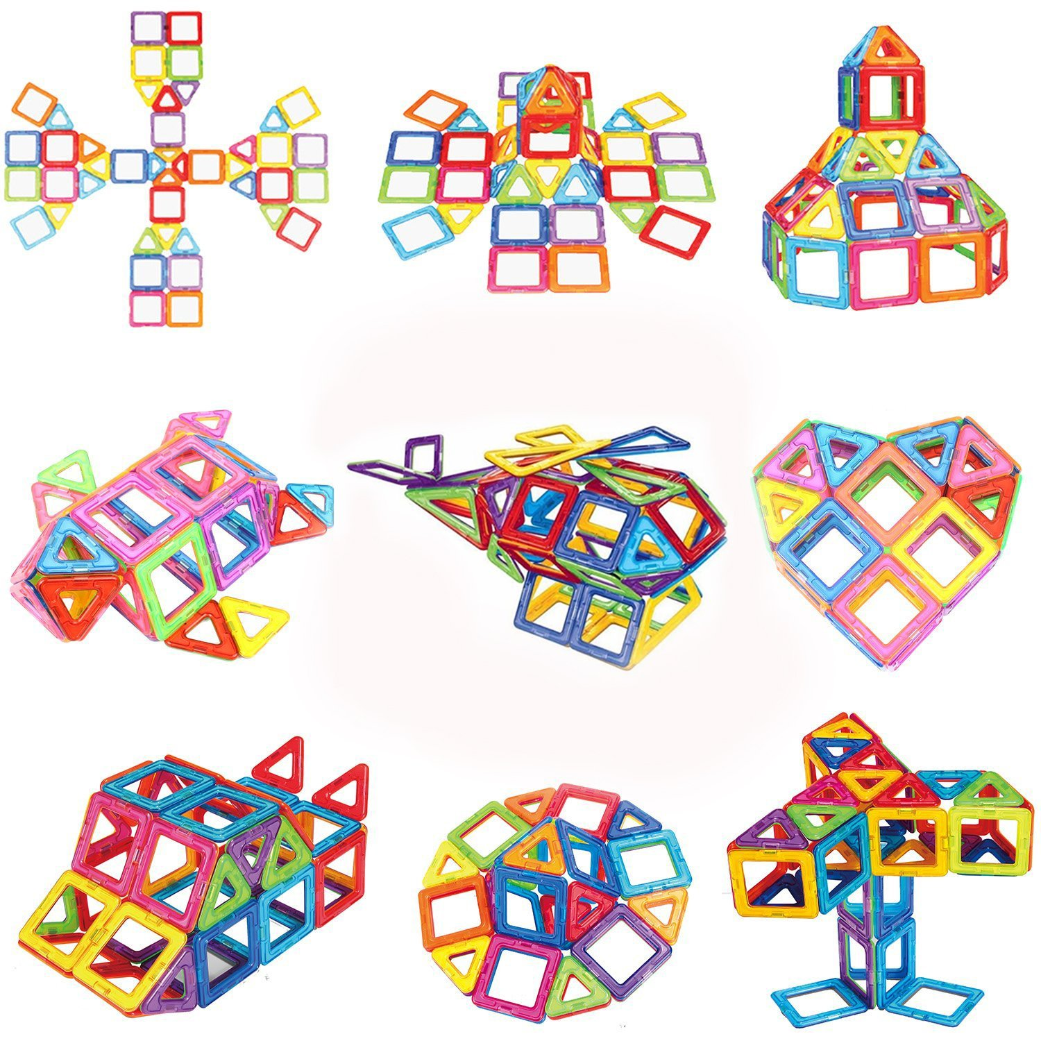 100 Piece Magnetic Blocks Building Toys For Boys Girls, Preschool Educational Stacking Toy 3D Magnet Building Construction Kit for Kids By Mags Pro Review