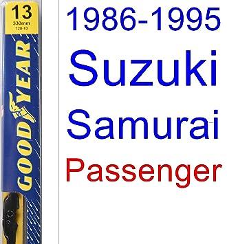 1986 - 1995 Suzuki SAMURAI hoja de limpiaparabrisas de repuesto Set/Kit (Goodyear limpiaparabrisas blades-premium) (1987,1988,1989,1990,1991,1992,1993 ...