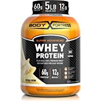 Body Fortress Whey Protein Powder 5 lb, Banana Creme