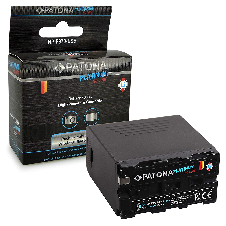 PATONA NP-F970 Platinum Bateria de 10500mAh con Micro-USB ...