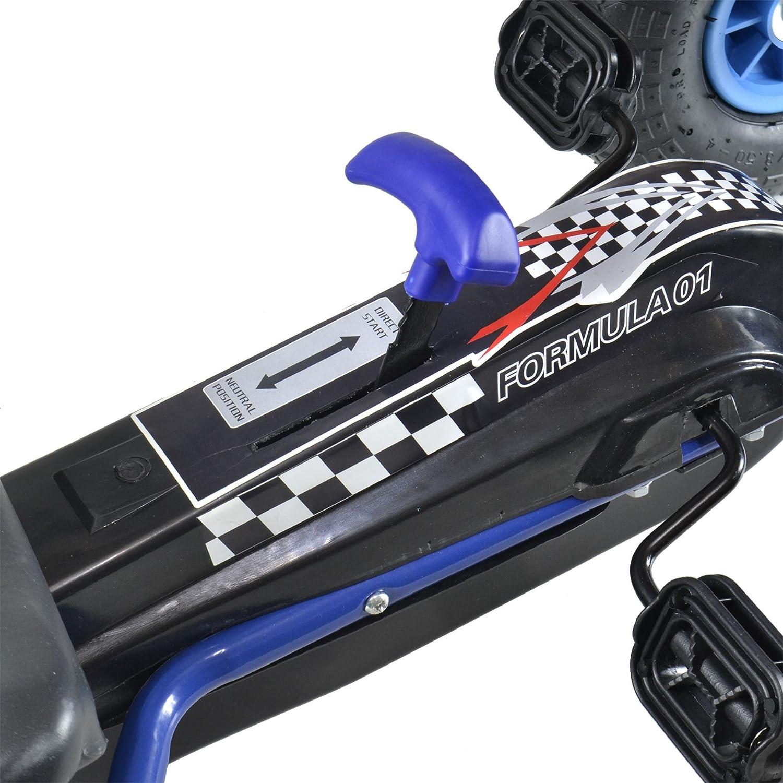"bopster/® Coche de pedales /""Go-Kart/"" con ruedas hinchables para ni/ños Azul//Negro"