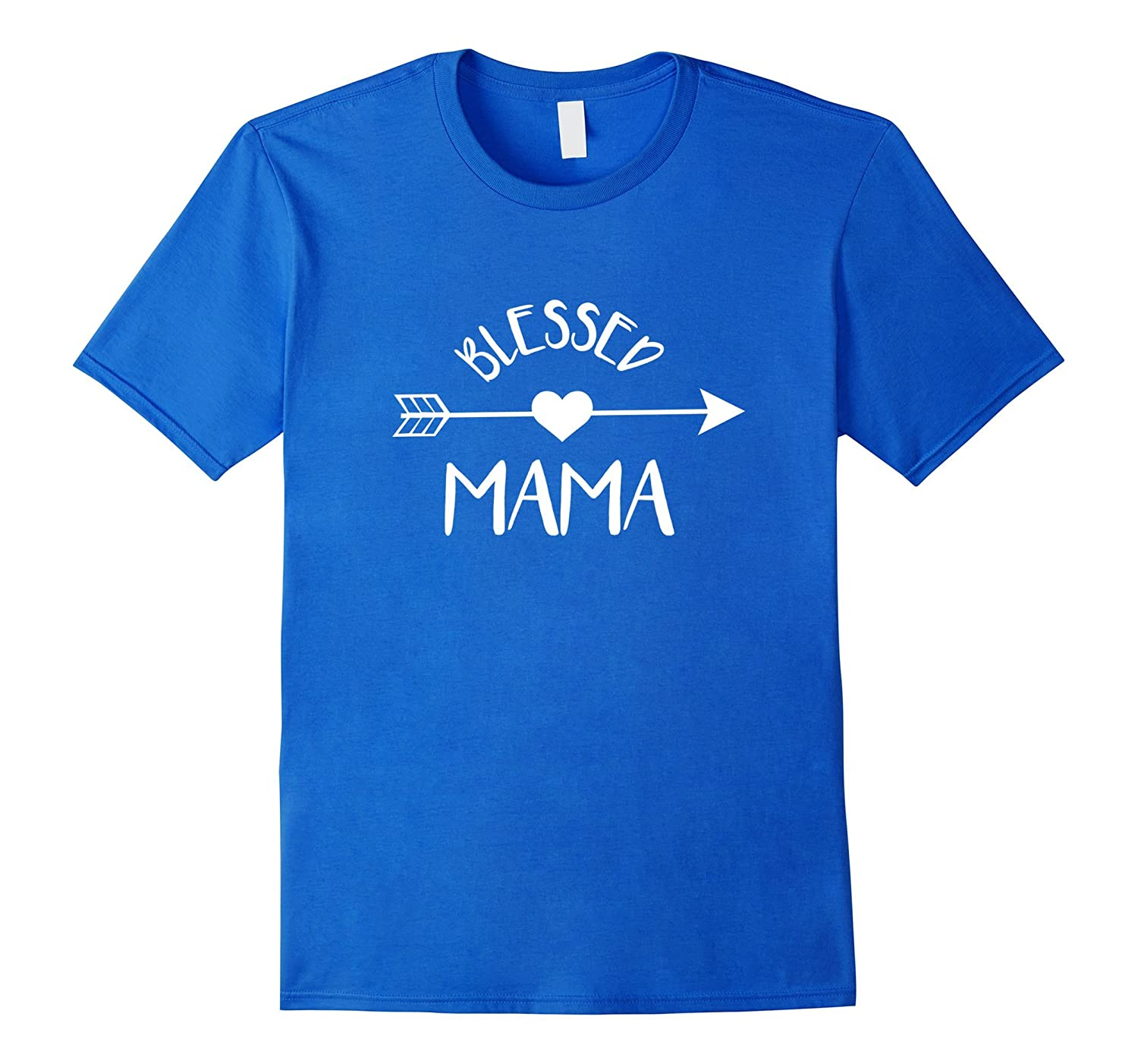 Blessed Mama T Shirt Cute Tribal Arrow and Heart Mom Gift-TH