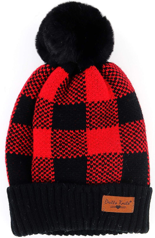 Britt's Knits Women's Hat  Black One Size