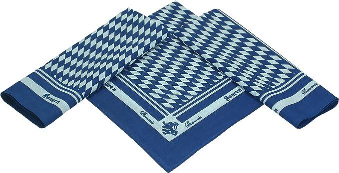 Betz paquete de 3 pañuelos bandanas con motivo Baviera tamaño ...