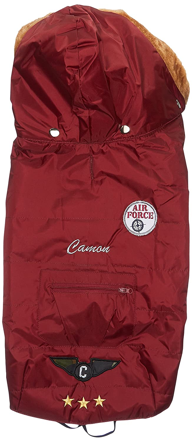 Camon Animal Kingdom Lio Waterproof Dog Coat, 36 cm, Bordeaux