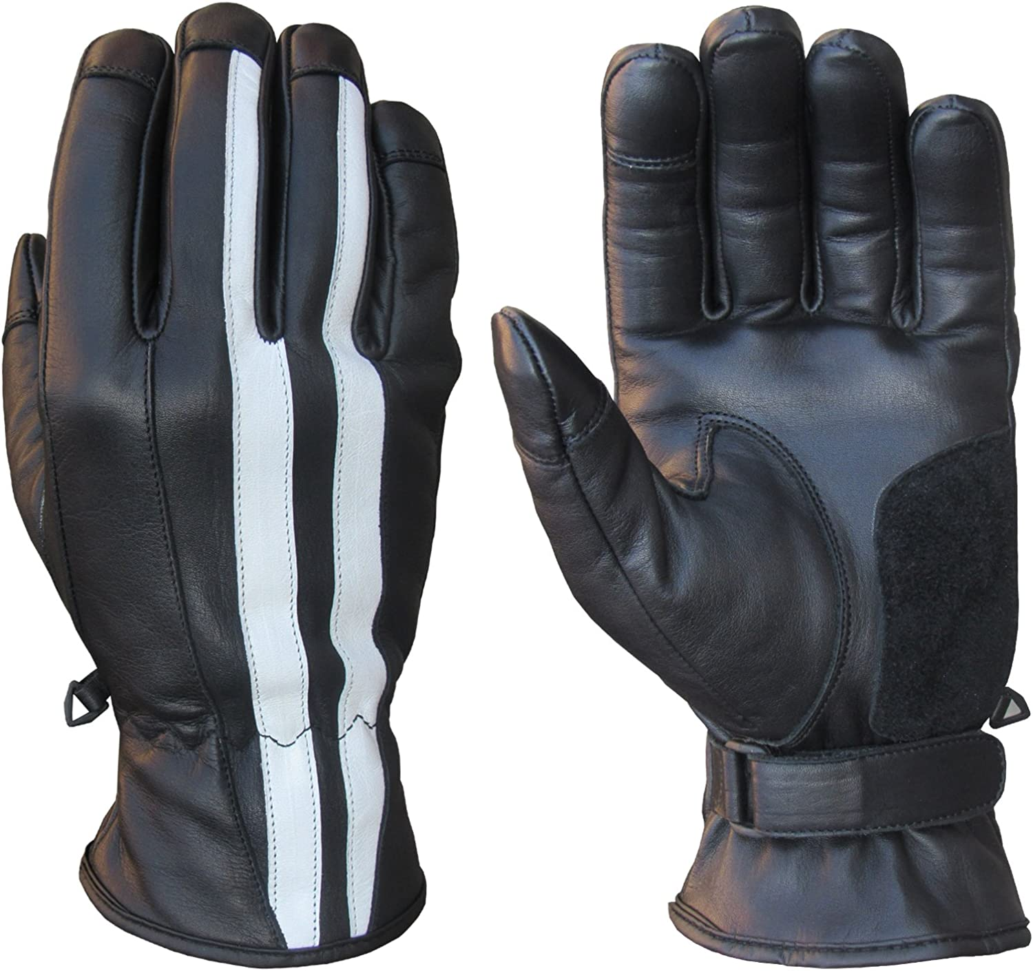 A/&H Apparel Mens Winter Leather Glove Genuine Cowhide Driving Thermal Insulate