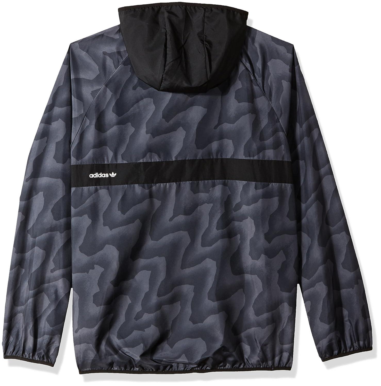 808f01fdea70 adidas Originals Men s Skateboarding Blackbird Warp Print Wind Jacket at  Amazon Men s Clothing store