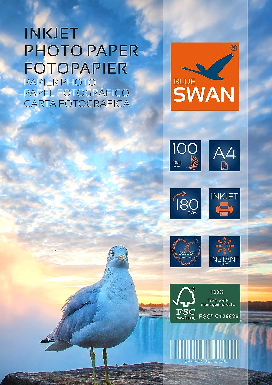 40 hojas de papel fotográfico A4, 180 G/qm, brillante (suite ...