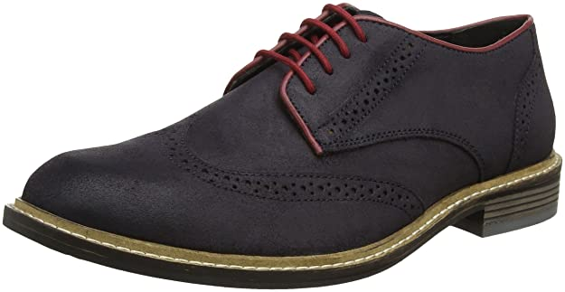 Willington, Zapatos de Cordones Brogue para Hombre, Marrón (Brown Suede Brn SDE), 43 EU Lotus