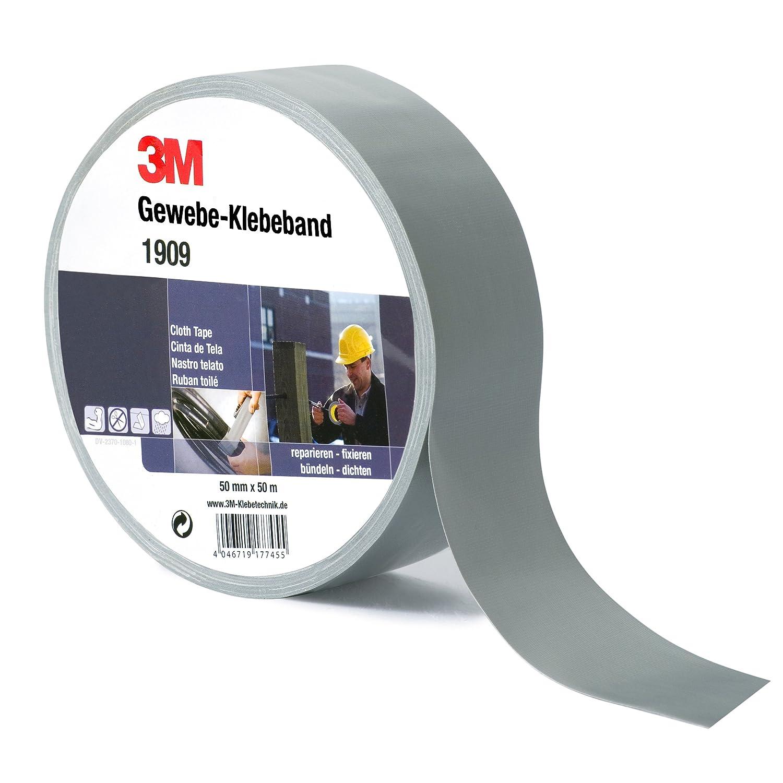 3M Gewebeband 1909, 50 mm x 50 m, Silber (1-er Pack): Amazon.de ...